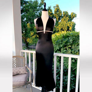 Gorgeous Luxe Backless Deep V Evening Gown